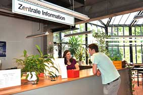 Photo: Talk at the Central information desk