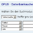 Screenshot OPUS Datenbanksuche
