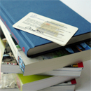 Picture: Books and library card