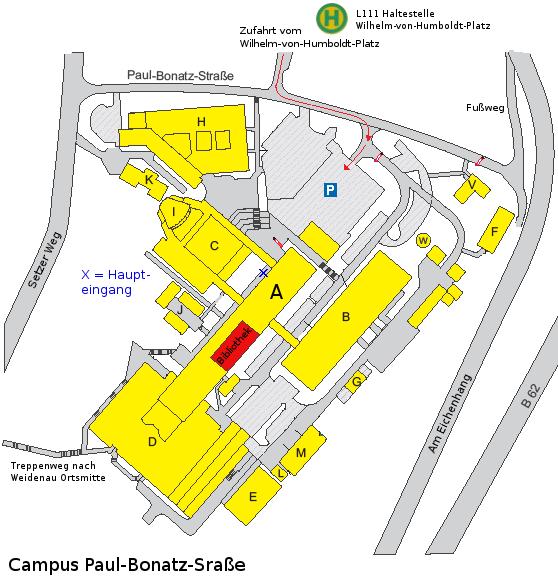 Universitätsbibliothek Siegen: Lageplan Teilbibliothek PB Emmy Noether